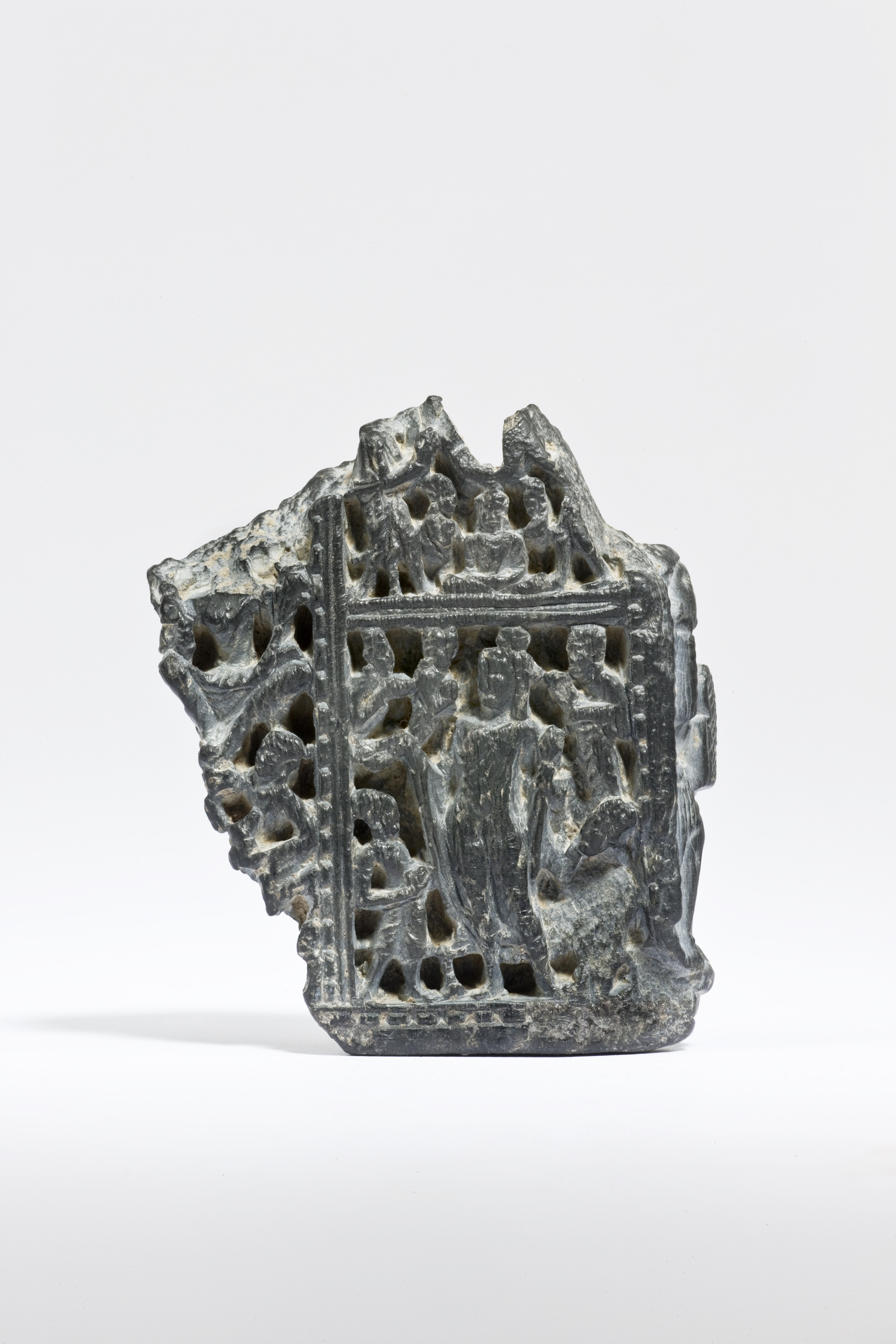 Grey Chlorite Fragment of a Portable Shrine in the Form of an Elephant