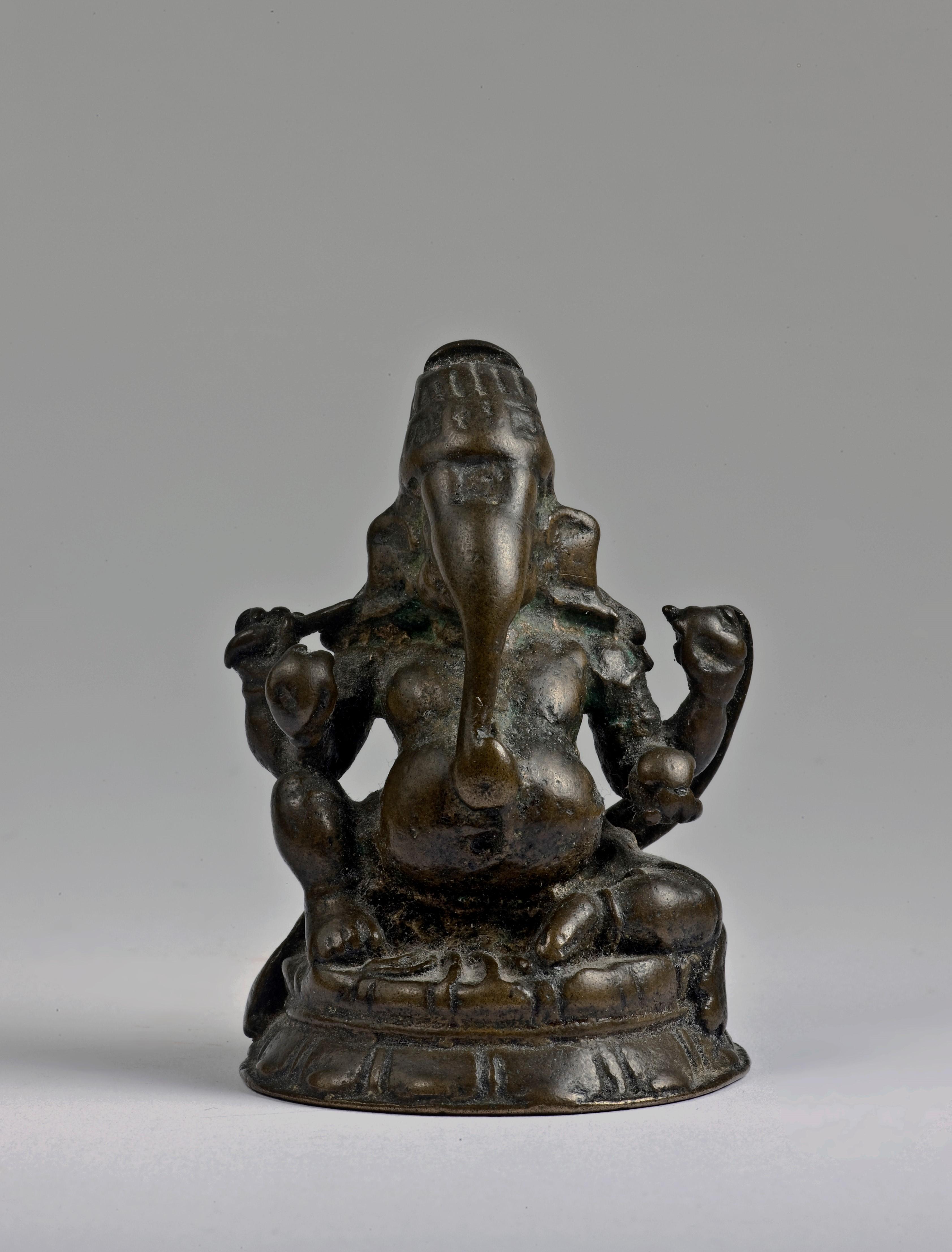chola bronze seated Ganesha
