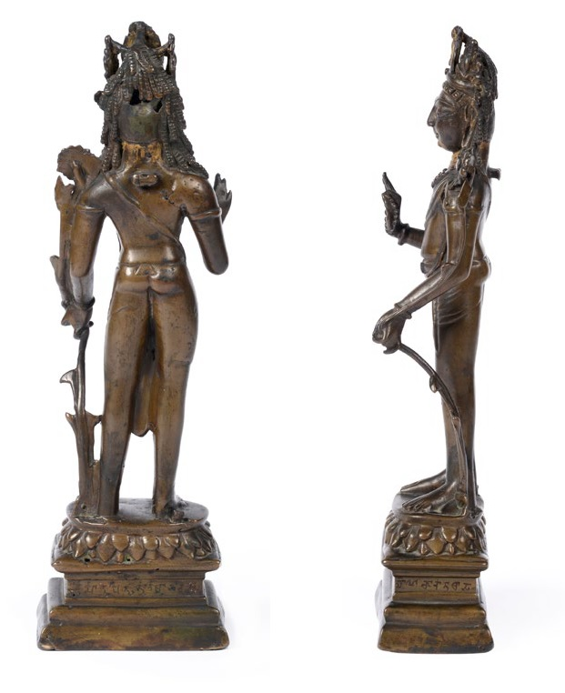 Bronze Standing Padmapani (side & reverse)