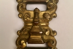 Gilt copper buckle with Stupa