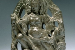Durga Mahishasura group plaque, 12.5cm. ninth century, Kashmir - 00152266