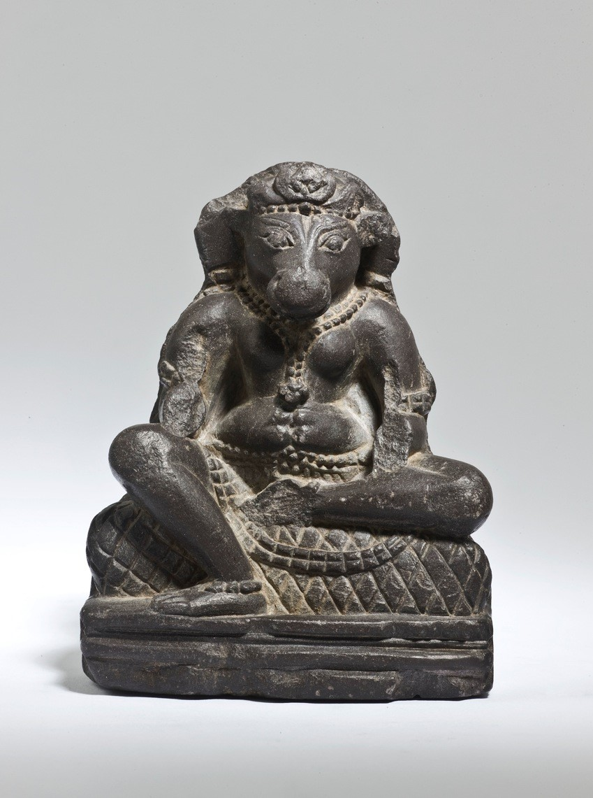 Bovine-headed Yogini plaque, 9.5cm high, ca. 600 AD Kashmir - W6K 2867