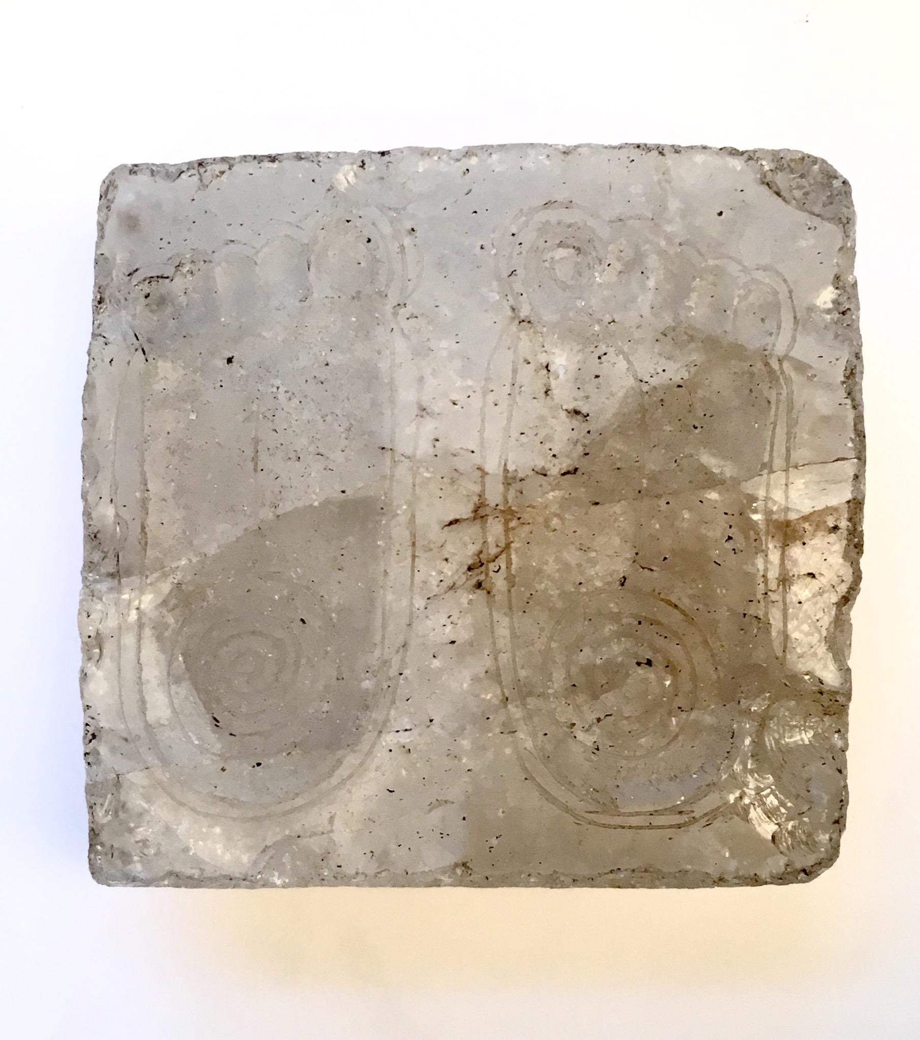 Kashmir rock crystal Vishnupad