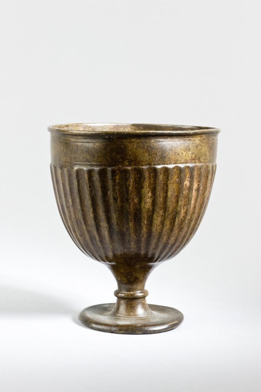 kashmirian cast bronze goblet