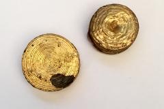 GOLD ENCASED SPOOL EAR-RING