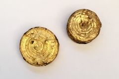 GOLD ENCASED DISCAL EAR-RING