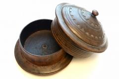 Kashmir walnut cylindrical pot