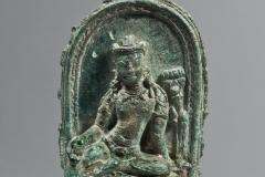 Pala bronze Manjusri, 11cm high, East Bengal - W6K2838